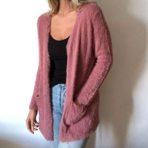 •Laura Ashley• baby soft fuzzy cardigan